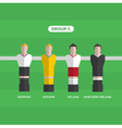 football players group C vector image