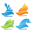 nature water fire air and flora vector image vector image