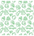 doodle style ecological seamless pattern vector image