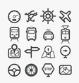 Different transport icons set vector image
