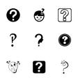 FAQ icons set vector image
