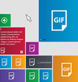 File GIF icon sign buttons Modern interface vector image