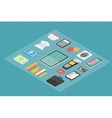 Finance isometric 3d icons vector image