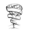 gemstone and ribbon vector image