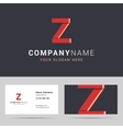 Logotype logo template and business card template vector image