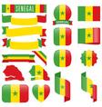 Senegal flags vector image