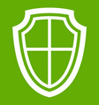 shield icon green vector image