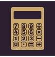 The calculator icon vector image