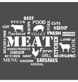 Meat Text set of butcher vector image