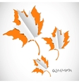 Autumn paper cut background with leaves vector image