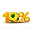 Ten percent discount icon vector image