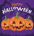 Happy Halloween pumpkins vector image