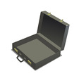 empty briefcase vector image