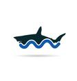 shark icon color vector image