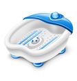massage bathtub vector image vector image