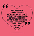 Inspirational love marriage quote Marriage in not vector image