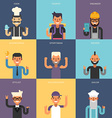 Set of Flat Design Professional People Characters vector image