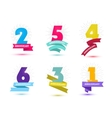 set of anniversary numbers design 1 2 3 vector image