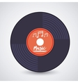 music record design vector image