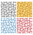 abstract backgrounds set with nets vector image