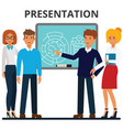 business presentation businessmen and vector image