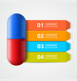 creative template with medicine infographics vector image