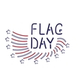 Flag day vector image