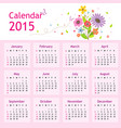 happy new year calendar 2015 vector image