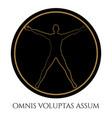 modern vitruvian man silhouette design vector image