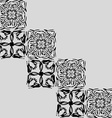 Openwork squares vector image