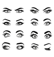 Set of cartoon eyes vector image