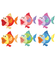 Coloured fish vector image vector image