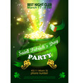 st patrick s day poster design templat vector image