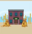 wild west bank building template vector image