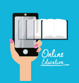 smartphone with knowledge to leard and study vector image