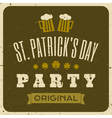 vintage style st patricks day greeting card design vector image