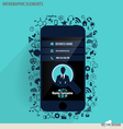 Touchscreen device with application icon vector image vector image
