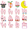 rabbit cartoon characters vector image