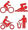 outdoors icons vector image vector image