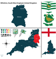 Wiltshire South West England vector image