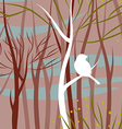 bird in forest vector image