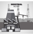 Industrial factory design vector image