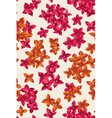 Seamless pattern with colorful tiny flowers vector image