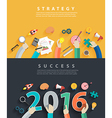 Business analysis and planning new year 2016 vector image