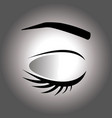 closed eye on a gray background vector image