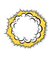Cloud after the explosion vector image