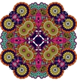 Colorful geometric designs on white background vector image