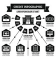 credit infographic concept simple style vector image