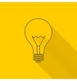 Flat long shadow light bulb icons vector image