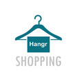 hangr shopping logo vector image